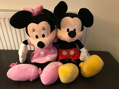 Large Mickey And Minnie Mouse Soft Toys 65cm • 10£