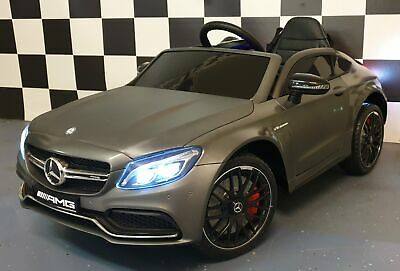 Kids Mercedes Benz C63 AMG 12v Electric Licensed Ride On Car Matt Grey + Remote • 179.95£