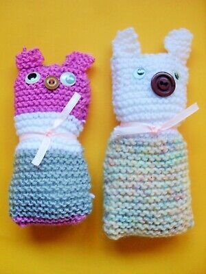 Handmade Knitted And Stuffed Pink Pig 10cm Tall • 2£