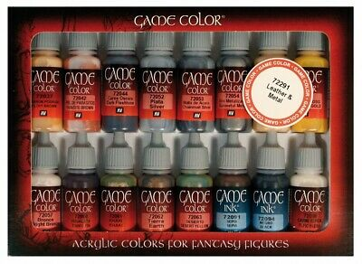 VAL72291_D - Game Color Set - Leather And Metal (x16) (Damaged Box) • 17.99£