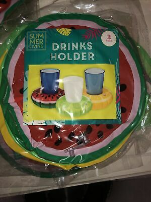 Inflatable Drinks Holder 3 Pack Free Delivery Hot Tub • 3.29£