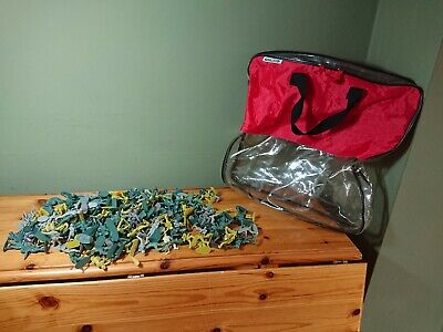 Large Bundle Job Lot Assorted Plastic Toy Soldiers + Chad Valley Carry Bag • 5.95£
