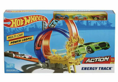 Hot Wheels Energy Track Set Action Pack With 3 Free Cars NEW & BOXED  • 19.99£