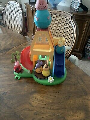 Peppa Pig Weebles With Car, Rocket And Playhouse With 11 Weebles • 23£