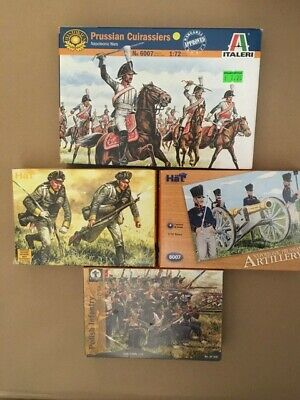 1/72 NAPOLEONIC PRUSSIAN & Polish BUNDLE - 4 BOXES, 125 FIGURES • 5£
