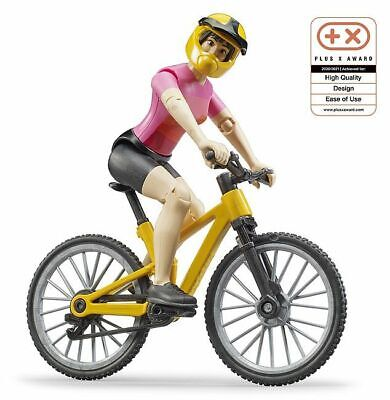 Bike Bicycle Mountain & Cyclist Figure - Bruder 63111 Scale 1:16 NEW RELEASE • 15.95£