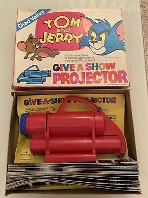Rare Vintage 1970s Chad Valley Tom & Jerry Give A Show Projector Boxed - Working • 25£
