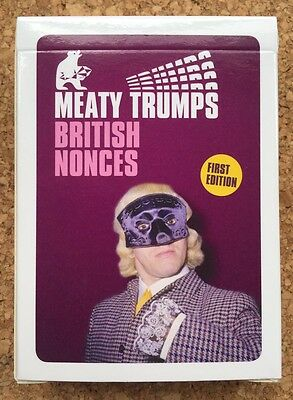 BRITISH NONCES (First Edition) Top Meaty Trumps - Mint Cond OOP Ltd Ed Of 2,000 • 14.99£