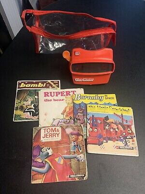 RARE 1998 3D Viewmaster Fisher Price Vintage Toy With 5 Books And Reels • 14.50£