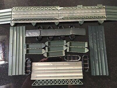 Vintage Airfix 1/72 WWII Pontoon Bridge With Extra Parts • 1.04£
