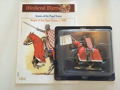Del Prado Medieval Warriors No.65 Booklet/Fig Knight Of The Papel States C 1200 • 5£