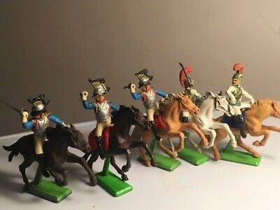 Britains Deetail Mounted Napoleonic Set Of 5 - Waterloo French Heavy Cavalry • 27£