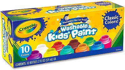 Crayola 541205 Washable Kids' Paint Set - 10 Pack Of Colours • 10.75£