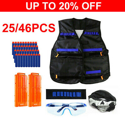 NERF Vest Gun Tactical Kids Jacket GFU For Boys Utility Ammo NURF N Accessories • 10.95£
