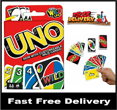 UNO CARD GAME With WILD CARDS Matte Latest Version Family Fun Indoor Party UK • 2.59£
