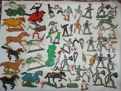 Vintage Collection Of Timpo Crusader Knights Horses Britains Normans Saxons  • 29.99£