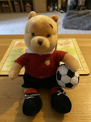 Limited Edition Disney Store Footballer Winnie The Pooh Plush Toy BNWT • 10£
