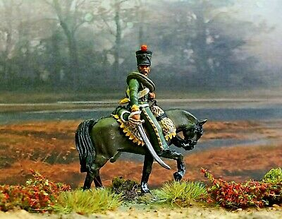 28mm  Napoleonic Trooper 4th Chasseurs Of The Line 1810          Painted • 17£