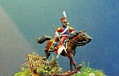 28mm  Napoleonic 2nd Regiment Dutch Red Lancer Of The Guard            Painted • 17£