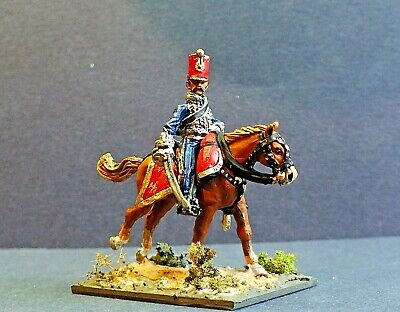 28mm  Napoleonic Officer 6th French Hussar        Painted • 17£