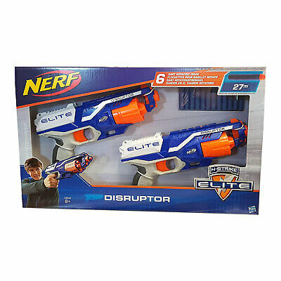 Nerf N-Strike Elite Disruptor Twin Pack Gun Blaster Rapid Fire 12 Darts C2544 • 20.90£