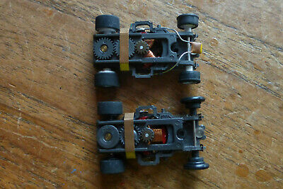 PAIR AURORA Magnatraction Chassis, AFX, Tyco HO Faller Tomy Faller • 26£
