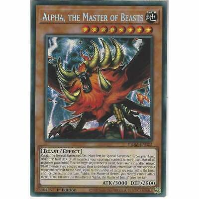 PHRA-EN023 Alpha, The Master Of Beasts | 1st Edition Secret Rare Card YuGiOh TCG • 25.95£
