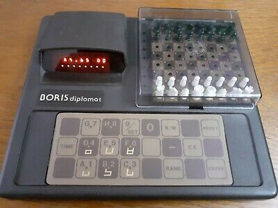 Vintage Electronic Chess Set Computer. 1979 Boris Diplomat  With Manual • 75£