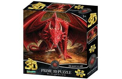 Anne Stokes 3D Dragon's Lair 150 Piece Lenticular Jigsaw Puzzles • 10.99£