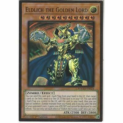 MAGO-EN024 Eldlich The Golden Lord | 1st Edition | Premium Gold Rare Card YuGiOh • 11.95£