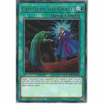 MAGO-EN156 Called By The Grave | 1st Edition Rare YuGiOh Trading Card Gold Title • 1.95£