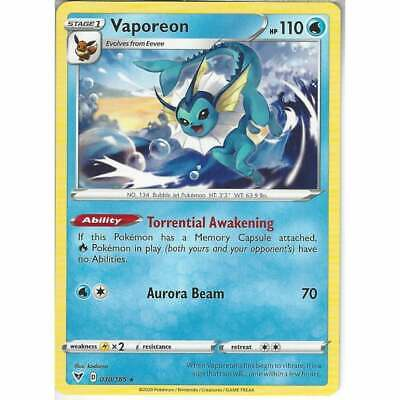 030/185 Vaporeon | Rare Card | SWSH-04 Vivid Voltage • 1.10£
