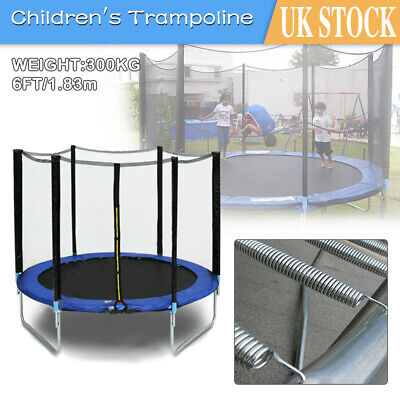 6FT Trampoline Safety Net Enclosure Spring Cover Padding Ladder Kids Bounce Fun • 85.49£