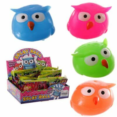 Squidgy Squeezy Splat Owl Ball, Christmas Gift/Present/Stocking Filler • 1.99£