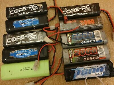 10x NiMH Ni-MH Batteries Battery Untested 7.2V RC R/C Car Boat Plane • 20£