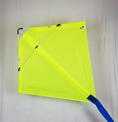PETER POWELL Stunt Kite MKIII FLO YELLOW  - Adults Kids Outdoor Sport Toy • 39.95£