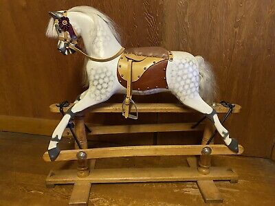 Recently Restored Stunning Dapple Grey Antique Rocking Horse By Lines Toy Horse • 1,250£