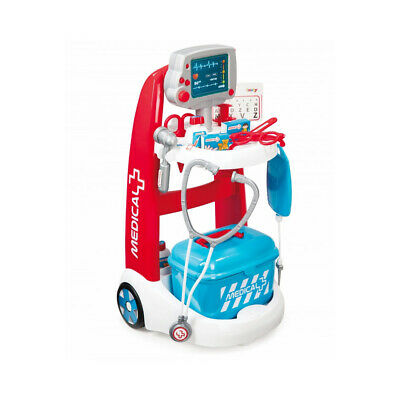 NEW! Smoby Children's Medical Rescue Trolley Playset Unisex 3 To 6 Years Multi-C • 47.45£