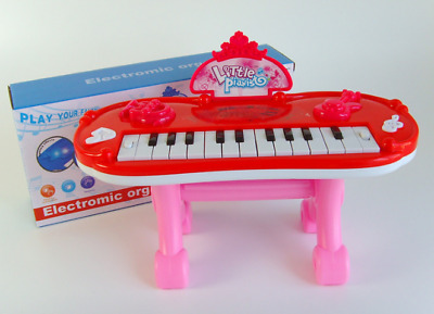 Electronic Mini Piano Play Set With Led Light Music Toy For Kids Toddler 3-7Y • 13.99£