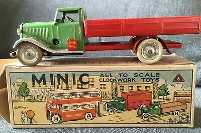 VIntage Triang MInic TInplate Clockwork Flatbed Delivery Lorry Original Boxed  • 74.99£