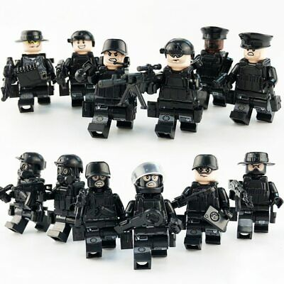 12 PCS SWAT POLICE Military Mini Figures Weapon Army SS Soldier Fit Lego Toy • 8.89£