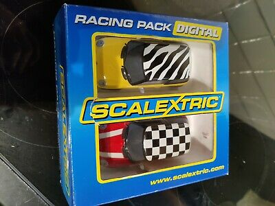 Scalextric C2949d Racing Pack Digital Mini Cooper Pair Yellow & Red -for Charity • 12.49£