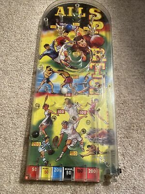 Vintage Pinball Game All Sports By Marx 1960's VG Complete • 9.50£