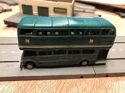 Triang Tri-ang Minic Motorway Green Line Double Deck Bus • 10£