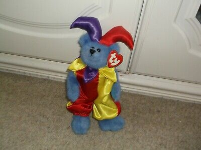WITH TAGS! BLUE JESTER/CLOWN BEAR ' CALLIOPE' C1993  ATTIC TREASURES JOINTED 9   • 4.29£