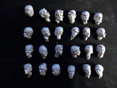 54mm MALE HEADS........ ASSORTED ........ Metal Castings • 14£