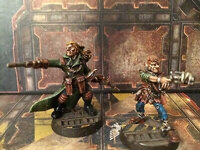 Kal Jericho And Scabs Bounty Hunter Necromunda Painted • 49£