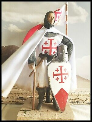 "12"" Custom Figure Knight Of The Order Of The Holy Sepulchre 1/6 Scale. • 95£"