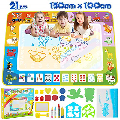 Lenbest Water Doodle Mat Animals, Extra Large 150x100cm Aqua Drawing Pad Water 4 • 27.86£