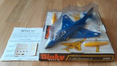 Dinky Airplane Phantom II #725 In VNM Condition In Original Bubble Box • 105£